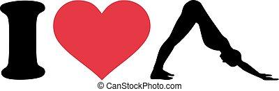 I love pilates silhouette
