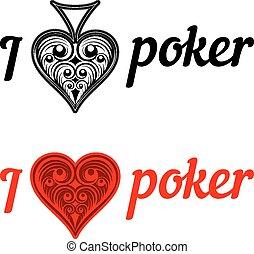 I love poker badges