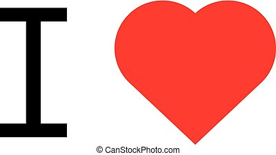 i love popular symbol illustration heart