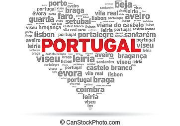 I Love Portugal Illustration on white background.