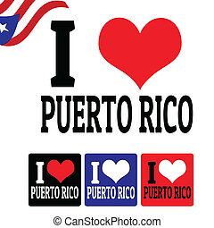 I love Puerto Rico sign and labels
