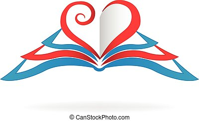 I love read books icon logo vector image