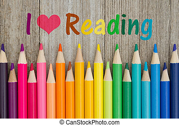 I love reading message with pencil crayons