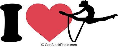 I love Rhythmic gymnastics with rope