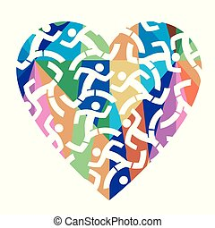 I love running colorful heart.