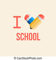 i love school, back to school illustration