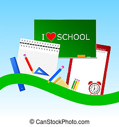 i love school icon color vector