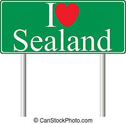 I love Sealand, concept road sign
