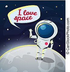 I love space vector illustration