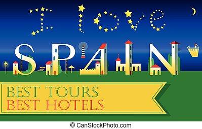 I love Spain. Holiday houses Font