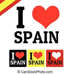 I love Spain sign and labels