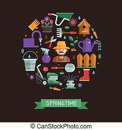 I Love Spring Card