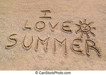 I love summer symbol - In the picture the writing on the...
