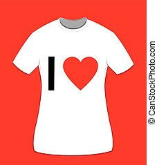 I love t-shirt for women