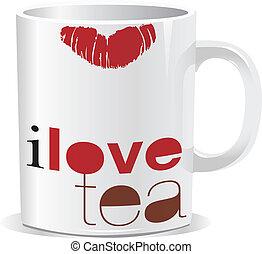 i love tea cup