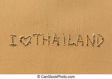 I love Thailand - the inscription