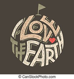 I Love the Earth t-shirt design