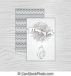 I love the sea, card