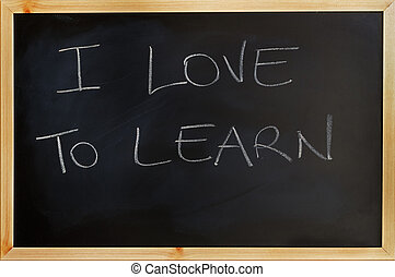 i love to learn