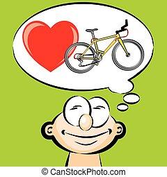 I love to ride a bike - emoticon