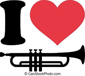 I love trumpet icons