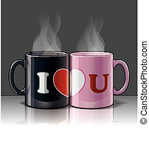 I Love U Mags Black & Pink - I Love you with my pink & black...