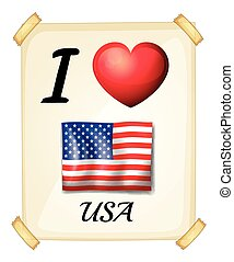 I love USA