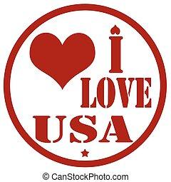 I Love USA-stamp