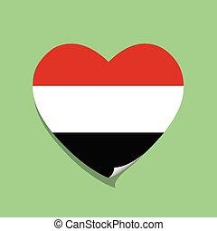 I love Yemen heart vector illustration