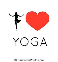 I love yoga illustration