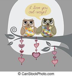 I love you always - 'I love you always' greeting card....