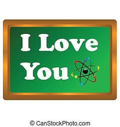 I love you atom