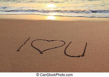 I love you beach
