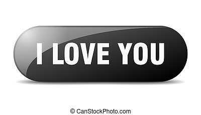 i love you button. sticker. banner. rounded glass sign