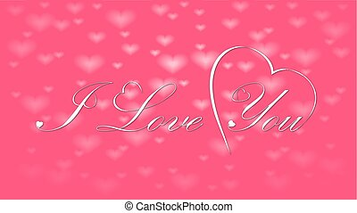 I love you calligraphy design, vector text