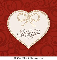 I love you - card.