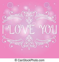 I love you card with decorative divider