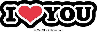 I love you - cartoon style