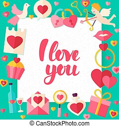 I Love You Day Paper Template