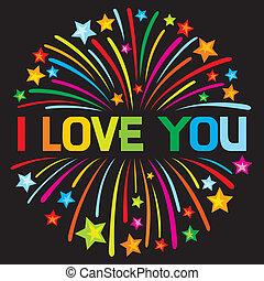 i love you firework