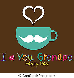 I love you grandpa text on special brown background