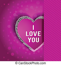 I miss you flat greeting card vector cartoon romantic card for i love you greeting card m4hsunfo