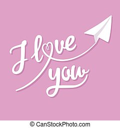 I love you greeting card - Valentine's Day greeting...