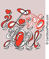 i love you greeting card with background
