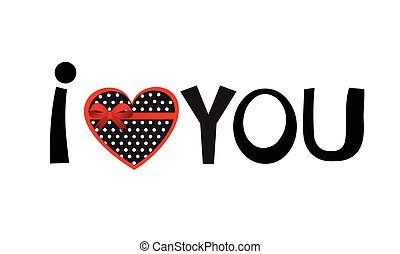 I love you. Hand drawn lettering phrase