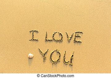 I Love You - hand-written