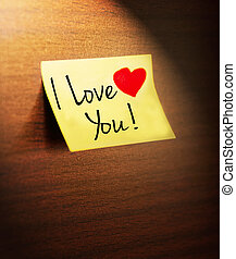 i love you handwritten