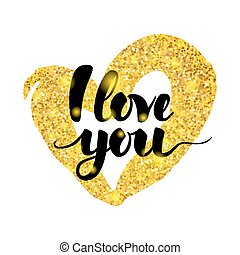 I Love You Handwritten Inscription