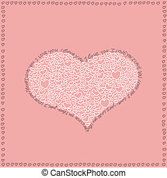 I Love You Heart - Heart and I love you text in pink design...