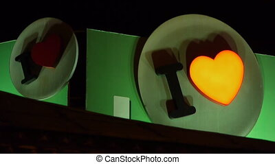 I love you heart. - I love you hearth signs is flashing at...